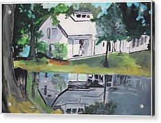 House With Lush Green Surroundings Acrylic Print by Pallavi Sharma
