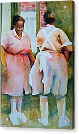 Housekeepers Of Soniat House Acrylic Print by Jani Freimann