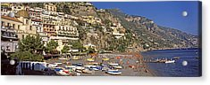 Houses In The Village On A Hill Acrylic Print by Panoramic Images