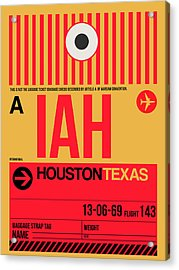 Houston Airport Poster 1 Acrylic Print by Naxart Studio