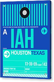 Houston Airport Poster 2 Acrylic Print by Naxart Studio