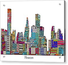 Houston Acrylic Print by Bri B