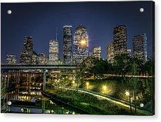 Houston On The Bayou Acrylic Print by David Morefield