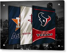 Houston Sports Teams Acrylic Print by Joe Hamilton