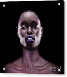 How Beautiful - The Color Purple Acrylic Print by Reggie Duffie