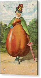 How Do I A Pear Acrylic Print by Aged Pixel