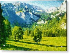 How Green Was My Valley Acrylic Print by Ayse Deniz