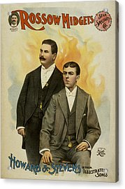 Howard And Stevens In Their Illustrated Songs Acrylic Print by Aged Pixel