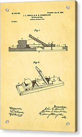 Howell And Chamberlain French-fry Potato Cutter Patent Art 1900 Acrylic Print by Ian Monk