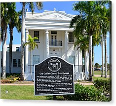 Collier County Courthouse Circa 1928 Acrylic Print by David Lee Thompson