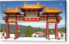 Hsi Lai Temple - 11 Acrylic Print by Gregory Dyer