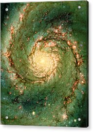 Hubble - The Heart Of The Whirlpool Galaxy Acrylic Print by Paulette B Wright