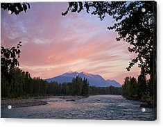 Hudson Bay Mountain British Columbia Acrylic Print by Mary Lee Dereske