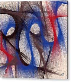 Hues Of Blue Acrylic Print by Marian Palucci-Lonzetta