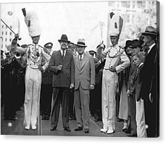Huey Long And Governor Conner Acrylic Print by Underwood Archives