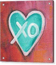 Hugs And Kisses Heart Acrylic Print by Linda Woods