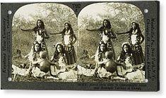 Hula Dancers, C1905 Acrylic Print by Granger