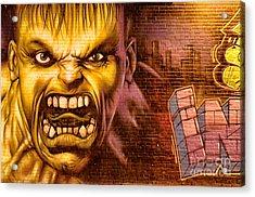 Hulk Graffiti In The Bronx New York City Acrylic Print by Sabine Jacobs