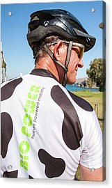 Human Powered Cycling Top Acrylic Print by Ashley Cooper