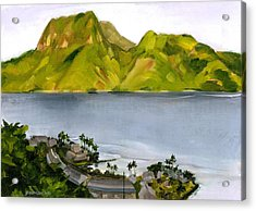 Humid Day In Pago Pago Acrylic Print by Douglas Simonson