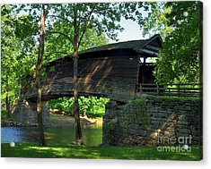 Humpback Covered Bridge 2 Acrylic Print by Mel Steinhauer
