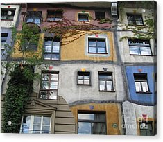 Hundertwasser Colored House Acrylic Print by Eclectic Captures