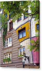 Hundertwasser House Acrylic Print by Bob Phillips