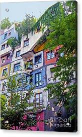 Hundertwasserhaus  Acrylic Print by Bob Phillips