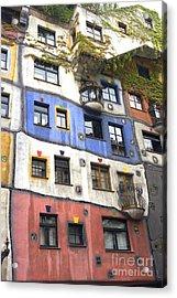 Hundertwasserhaus Vienna Acrylic Print by Julie Woodhouse