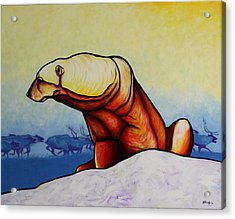 Hunger Burns - Polar Bear Acrylic Print by Joe  Triano