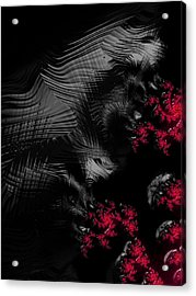 Hunger - Dark And Blood Red Fractal Art Acrylic Print by Matthias Hauser