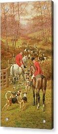 Hunting Scene, 1906 Acrylic Print by Edward Algernon Stuart Douglas