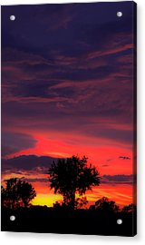 Huricane Sunset Acrylic Print by Zachary Cox