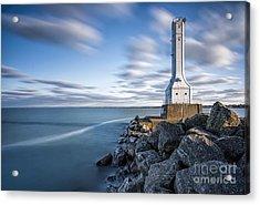 Huron Harbor Lighthouse Acrylic Print by James Dean