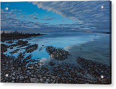 Huron Horizon Acrylic Print by Michael Marcotte