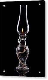 Hurricane Lamp Still Life Acrylic Print by Tom Mc Nemar