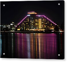 Hyatt Reflection Charles River Acrylic Print by Toby McGuire