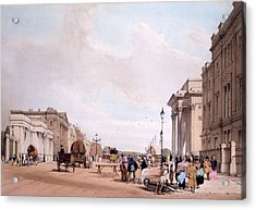 Hyde Park Corner, Looking Acrylic Print by Thomas Shotter Boys