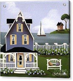 Hydrangea Cove Acrylic Print by Catherine Holman
