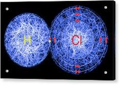 Hydrogen Chloride Acrylic Print by Lawrence Lawry