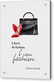 I Am Fashion Acrylic Print by Rebecca Jenkins