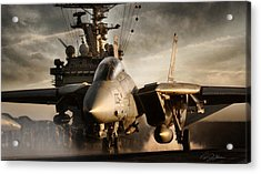 I Am Legend F-14 Acrylic Print by Peter Chilelli