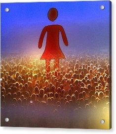 I Am Woman Acrylic Print by Patricia Januszkiewicz