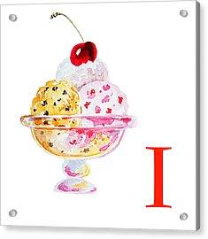 I Art Alphabet For Kids Room Acrylic Print by Irina Sztukowski