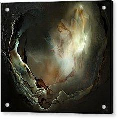 I Believe In Angels  Do You Acrylic Print by Gun Legler