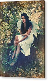 I Believe In Angels Acrylic Print by Laurie Search