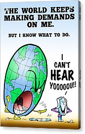 I Can't Hear You Acrylic Print by Mark Armstrong
