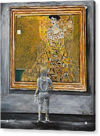 I Dream Of Klimt Acrylic Print by Nik Helbig