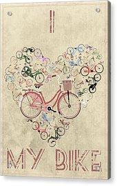 I Heart My Bike Acrylic Print by Andy Scullion