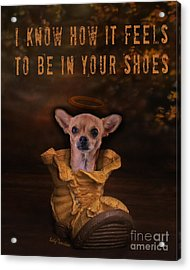 I Know How It Feels To Be In Your Shoes Acrylic Print by Kathy Tarochione